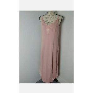 Adelyn Rae Midi Slip Speghatti Dress Large NWT